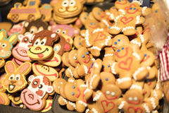 MARCH 25, 2016: Traditional gingerbread baked goods at traditional Easter markets on Old Towns Square in Prague Stock Image