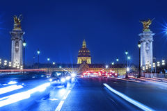 On March 20, 2015: Traffic jam in front of Les Invalides in Par Stock Photo