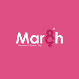 MARCH Typographical Design Elements. International women`s day i. Con.Women`s day symbol.Minimalistic design for international women`s day concept.Vector Royalty Free Stock Images