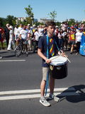 March for unification of Romania and Moldova july 2015 Stock Image