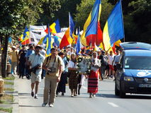 March for unification of Romania and Moldova july 2015 Stock Photos
