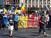 March for unification of Romania and Moldova july 2015 Royalty Free Stock Image