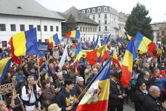 March union Romania and Moldova Royalty Free Stock Photography