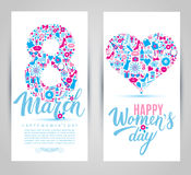 8 March vector card Stock Photography