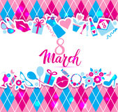 8 March vector card Stock Image