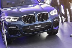 31 of March, 2018 - Vinnitsa, Ukraine. BMW X3 presentation in sh royalty free stock photography