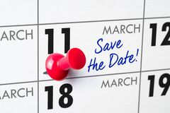 March 11 stock photo