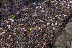 MARCH 24, 2018: Washington, D.C. Hundreds of thousands gather on Pennsylvania Avenue, NW in . First, high. MARCH 24, 2018: Washington, D.C. Hundreds of thousands stock photos