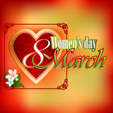 8 March  Woman's day background with   beautiful bouquet of  flowers Royalty Free Stock Photo