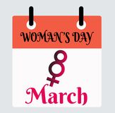 8 March Woman`s Day vector stock illustration