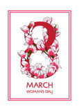 8 March Woman`s day greeting card. Vector illustration vector illustration
