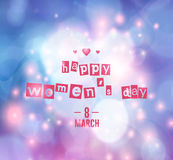 8 march - woman`s day. Vector greeting card . 8 march - woman`s day stock illustration