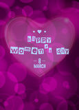 8 march - woman`s day. Vector greeting card . 8 march - woman`s day Stock Images