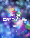 8 march - woman`s day. Vector greeting card . 8 march - woman`s day Royalty Free Stock Photo