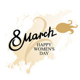 March 8 women day icon Stock Images
