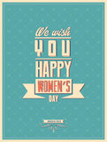 8 march women day with vintage background. | EPS10 Compatibility Required stock illustration