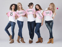 8 of March, Women's day Stock Photos