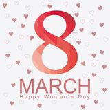 8 march. Women`s day card with abstract mosaic eight. Vector. Royalty Free Stock Photo