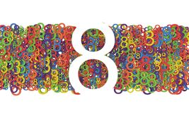 8 March Women's Day. Colorful numbers background. Women's Day. Colorful numbers background. 8 March Royalty Free Stock Images