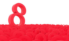 8 March Women's Day. Colorful numbers background. Royalty Free Stock Photos