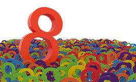 8 March Women's Day. Colorful numbers background. Royalty Free Stock Photography