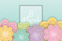 8 March, Women`s Day floral greeting card. Stock Photography