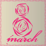 March 8 Women's Day. A flower in the form of eights, light background, flower Stock Images