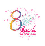 8 March Women`s Day. Greeting card Royalty Free Stock Photo