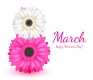 8 march women`s day greeting card. Royalty Free Stock Photography