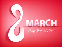 8 march women`s day greeting card. Stock Images