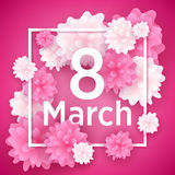 8 march women`s day greeting card. Royalty Free Stock Image
