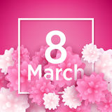 8 march women`s day greeting card. Stock Photography