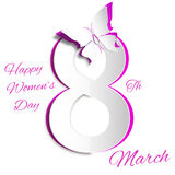 March Women's Day greeting card template Royalty Free Stock Image