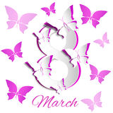 March Women's Day greeting card template Royalty Free Stock Photo