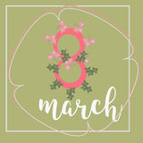 8 March Women s Day greeting card template Stock Photography