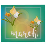 8 March Women s Day greeting card template Royalty Free Stock Image