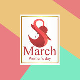 8 March Women`s Day greeting card template Royalty Free Stock Photography