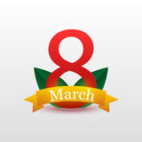8 March Women s Day greeting card template Royalty Free Stock Photography