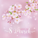 8 March - Women's Day Greeting Card Stock Photos