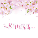 8 March - Women's Day Greeting Card Royalty Free Stock Photos