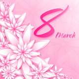 8 March women`s day greeting card template. Stock Images