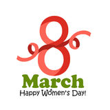 8 March Women`s Day greeting card - vector illustration. The 8 March Women`s Day greeting card - vector illustration Stock Images