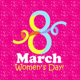 8 March Women`s Day greeting card - vector illustration. 8 March Women`s Day greeting card vector illustration Royalty Free Stock Photo