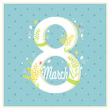 8 March Women's Day Illustrarion. Illustation for March 8 Women's Day Celebration Stock Photo