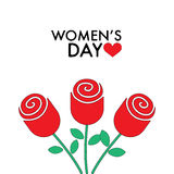 8 March Women s Day roses. Stock Photography