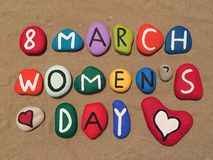8 March, Women's Day on stones Royalty Free Stock Image