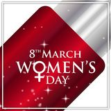 8 march women\'s day typographic card vector. For web design and application interface, also useful for infographics. Vector illustration Stock Illustration