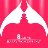 8 march women's day typogrpahic design vector. For web design and application interface, also useful for infographics. Vector illustration vector illustration