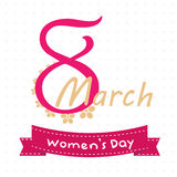 8 March - Women`s Day. Vector EPS Illustration Template Stock Images