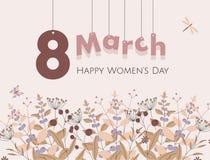 8 March Women`s Day. Vector Flat Illustration stock illustration